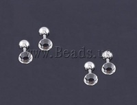 Free shipping!!!Stainless Steel Ear Piercing Jewelry,Celebrity, 4.8mm, 1.2x5mm, 4mm, 16Pairs/Lot, Sold By Lot