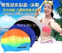 100pcs/lot Diving Cap PU Swimming Caps Hat Unisex Bathing Swim Hats Free Shipping