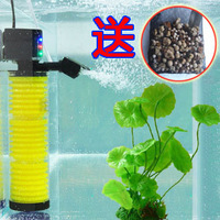 FREE SHIPPING Quiet fish tank New 3 In 1 Multifunction Fish Aquarium Filter Filtration Oxygenation Air Water Pump