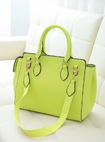 Women's handbag 2013 high quality fashion candy color handbag shoulder bag work bag motorcycle bag