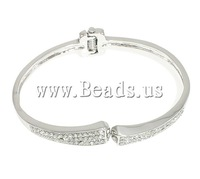 Free shipping!!!Zinc Alloy Bangle Jewelry,jewelry lot, platinum color plated, with rhinestone, nickel, lead & cadmium free