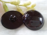 Free shipping!!!ABS plastic shank button,for Jewelry, Dome, black, 25mm, 50PCs/Bag, Sold By Bag