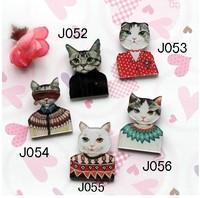(MIN MIX ORDER IS $10Free shipping )New arrival 2013 HARAJUKU badge HARAJUKU brooch animal cat cat  pin fashion gift 025