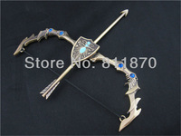 NEW  LOL Ashe weapon Pendant key chain/ring Bronze colour Gift Free Shipping