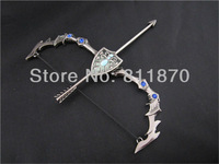 NEW  LOL Ashe weapon Pendant key chain/ring Gun colour Gary Gift Free Shipping