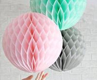 Free Shipping Wholesales 10Pcs 8'' (20cm )Tissue Paper Flower ball/ Honeycomb Lantern Wedding Party festival decor