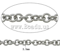 Free shipping!!!Stainless Steel Chain,clearance sale with free shipping, oril color, 3.50x0.80mm, Length:100 m, Sold By Lot