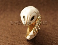 Free shipping!!!Zinc Alloy Finger Ring,ethnic, Snake, gold color plated, enamel & with rhinestone, nickel, lead & cadmium free