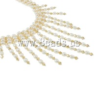 Free shipping!!!Crystal Freshwater Pearl Necklace,Jewelry 2013 Fashion, Cultured Freshwater Pearl, with Crystal