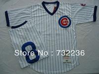 Chicago Cubs jersey #8 Andre Dawson White Blue Stripes men's Throwback Baseball Jerseys, size M-3XL, free shipp