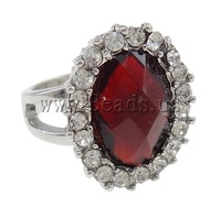 Free shipping!!!Zinc Alloy Finger Ring,fashion brand, Oval, platinum color plated, with rhinestone, nickel, lead & cadmium free
