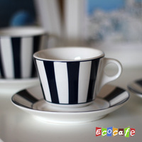 Brief blue lines coffee cup and saucer fashion isonuclear allocytoplasmic - concentrated