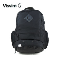 Ubiq visvim black oxford material backpack double-shoulder school bag laptop bag