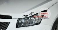 New Cruze eye graphic light eyebrow reflective pull flower Stickers  Glue Sticker