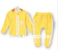 Christmas gift Free shipping TT45 Baby Infant Hot Tong autumn Suits Sport Package kid Children's Sets Children's clothing