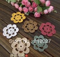 "Free shipping hand made flower, Crochet Doily / flower,coaster crochet applique 6.5CM/2.5"" Hair Accessories100PCS/LOT"