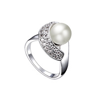 CDE hot sale Free Shipping 2013 fashion Ring Pearl Ring Fashion Jewelry 100% High Quality R0058