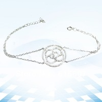 HMAB059 women jewelry 2013 chain woven bracelet new silver jewelry