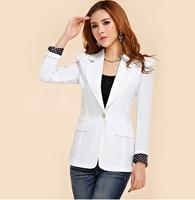 5 Color Autumn Fashion Ladies' Candy Color Slim Medium-Long Blazer Outerwear Women's Business Suits Spliced Dot Pattern Jackets