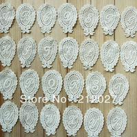 Free Shipping English Letters Cloth Paste, Fabric Paste, DIY Lace Decoration, Lace Applique 52pcs/lot Mix design acceptable