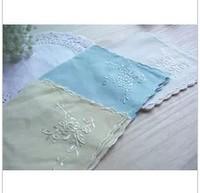 Mulberry silk silk embroidery Ladies Cotton Plain handkerchief elegant embroidered handkerchief Cross Stitch Pattern