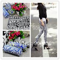free shipping 2014 new arrival women print ethnic leggings slim skinny cotton blends trouseres for women factory price