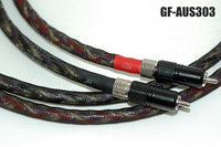 1Pair Gaofei GF-AUS303 7N Copper Silver RCA Interconnects Analog cable 1.5meter