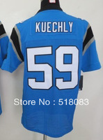 Free Shipping Men's 59 Luke Kuechly Elite Blue Cheap Football Jerseys Embroidery and Sewing logos Size:40-56