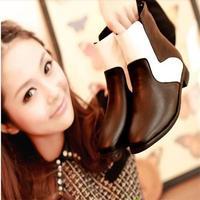 Fashion 2013 genuine leather boots fashion martin boots cowhide vintage plus size female fashion flat heel boots