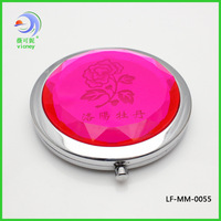 Metal makeup mirror quality transparent mirror portable mirror red print mirror