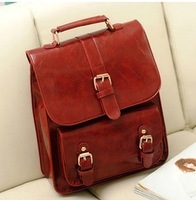 wholesale 2013 autumn vintage LEATHER backpack clasical school style trend of casual fashion women's handbag