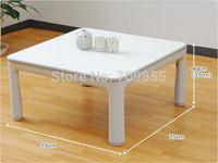 Free shipping Kotatsu square 75cm white color low  folding floor table japanese