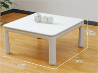 Freeshipping KT75-4   white color low kotatsu folding floor table japanese,75*75cm