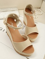 2013 women's shoes fashion sandals wedges brief women's thick heel shoes