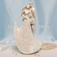 Affectionate Couple Cake Topper Wedding Party Cake Decoration