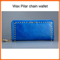 2013 new  absurd home imported oil wax Ms. Pilar chain wallet purse Wallets