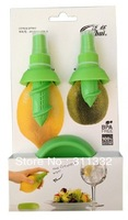 Free shipping 2pcs in a set Lemon Juice Sprayer Citrus Spray Hand Juicer Mini Squeezer Kitchen Tools Set Creative Gifts
