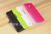Free shipping,100pcs/lot 5 colors Ultra Thin Anti-fingerprint Soft TPU Matte Case Cover For HTC One M7 + LCD Guard Stylus Pen