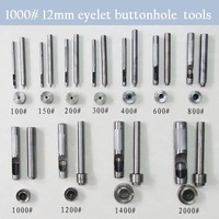 1000# 12 mm DIY handmade carbon steel metal eyelet buttonhole tools for make eyelet hole tool set