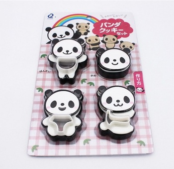 FREE SHIPPING 1set Cute Panda cookies cutter plastic mold cutter tools cake decoration 12pcs