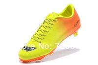 Victory IV -Orange yellow black sizeeur 39-45 Carbon fiber TPU Soccer Shoes lace up men freeshipping us11