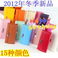 2012 bow long design metal hasp pendant women's wallet women's wallet quality wallet