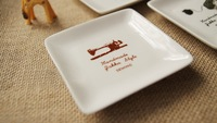 Vintage japanese style ceramic dish soy sauce dish caidie small