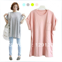 Plus size clothing summer mm 2013 batwing sleeve loose long design women's short-sleeve t-shirt
