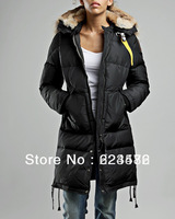 Hot Sale 2013 Brand New Fashion Women's Long Bear Parka Fur Hooded Jacket Winter Outdoor Windprrof Warm Goose Down Coat XS-L