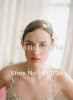 VH0803 Handmade White Hairbands And Veil Women Wedding Accessories Bridal Hairwear