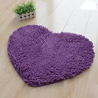 Microfiber chenille Lovely heart-shaped mat floor MATS 40x50cm 3pcs/lot