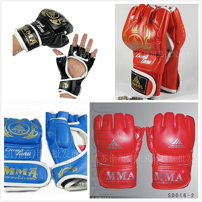 Fight gloves mma semi-finger sandbag gloves(China (Mainland))