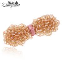 Handmade accessories crystal bow hairpin hair pin hair accessory hair accessory clip b099