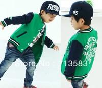 New style  baby boy's jacket/coat/fleece zipper unlined upper garment , 5pcs/1lot